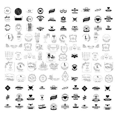 set of premium retro vintage badge business design vector template