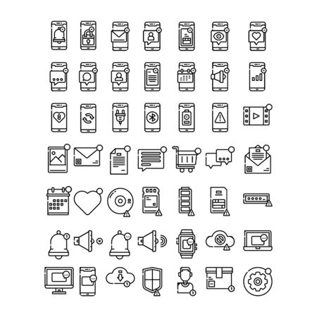 set of business technology icon symbol design vector Stock Vector - 142797735