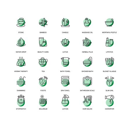 set of business technology icon symbol design vector