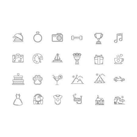 set of icon symbol business design vector template
