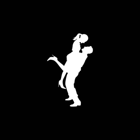 love date silhouette business design vector template Illustration