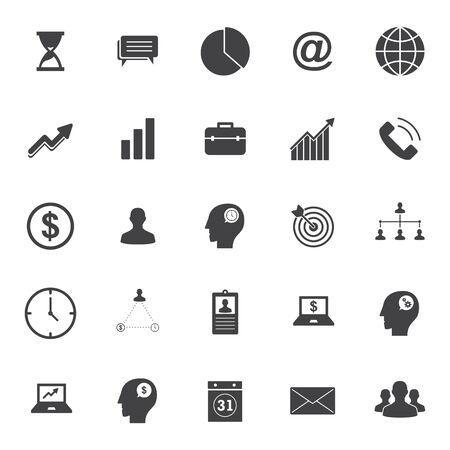 set of business icon symbol - business design vector Illustration
