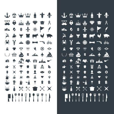 set of premium retro vintage icon symbol business design vector template