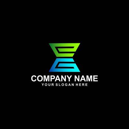 EG letter abstract business logo design vector template element Logó