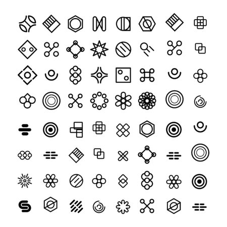 set of abstract business design vector template shape geometric