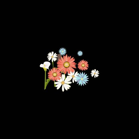 abstract business design vector template element flower nature