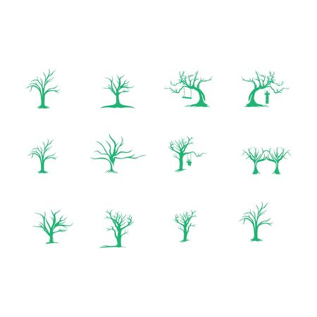 set of tree without leaf, abstract business design vector template element nature