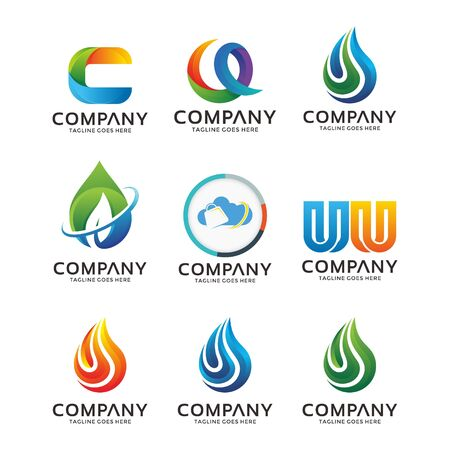 abstract business logo design vector template element