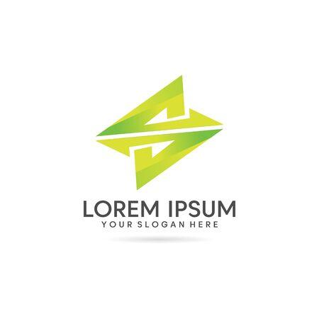 SZ letter business logo design vector template Logó