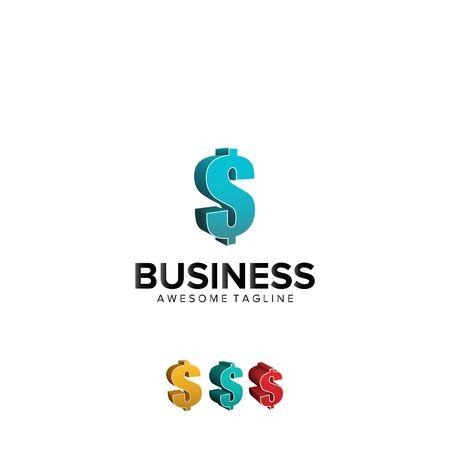 S dolar letter business logo design vector template money