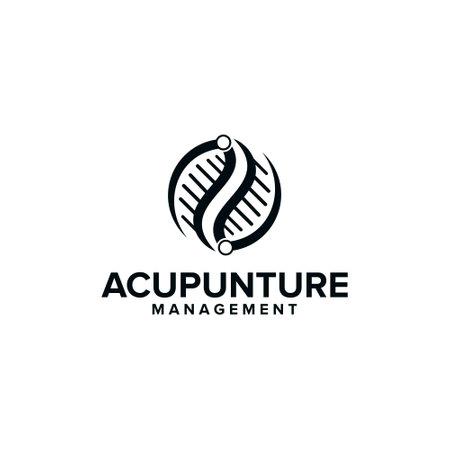 acupunture - business and health logo design vector Logos
