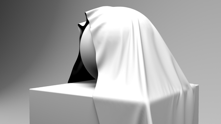 Sphere covered with cloth. 3d illustration. illustration