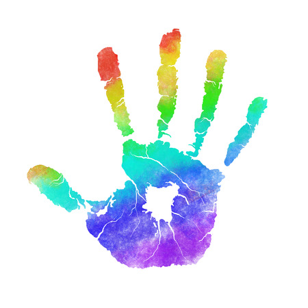 Color full handprint photo