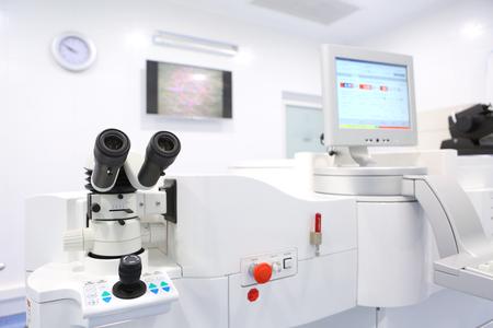 equipment for laser vision correction operating Foto de archivo