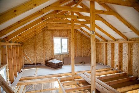 건설 마을의 과정에서 프레임 하우스의 내부 스톡 콘텐츠