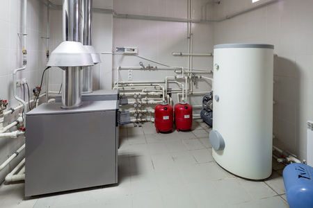 gas boiler room in a private cottage
