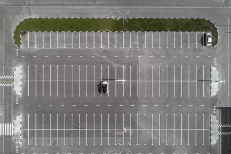 vista superior del estacionamiento