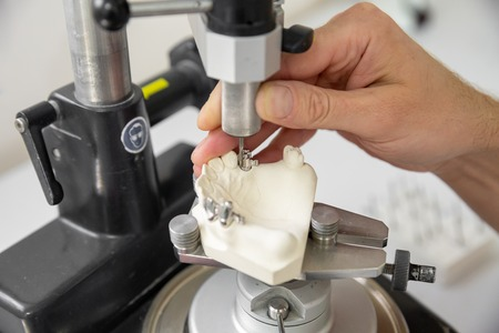 metal blank in the process of manufacturing dentures for prosthetics