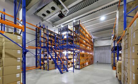 large modern warehouse complex Фото со стока