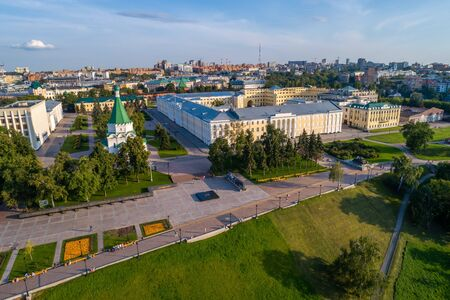 Nizhny Novgorod Kremlin summer views on a Sunny day. Shooting from a drone. Foto de archivo