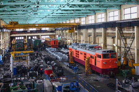 Repair of locomotives, the city of Kamenolomni, Russia, April 20, 2011 Editorial