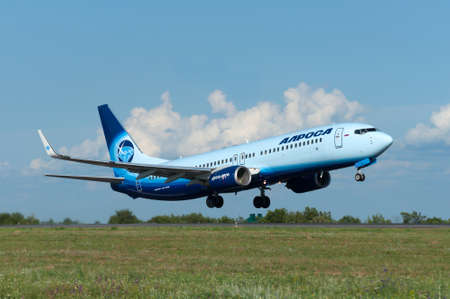 Takeoff of the aircraft 737, Rostov-on-Don, Russia, 15th of June 2015. Official spotting.