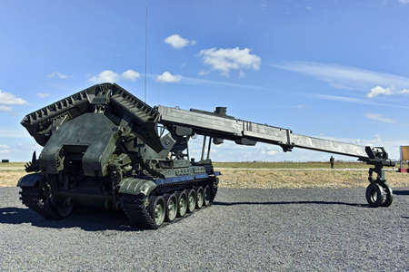 The engineering machine of the IMR-2 barrier, Kadamovskiy, Russia, September 9, 2016. The Army-2016 forum. The entrance and the shooting are free.