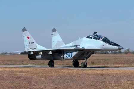 mig: Training and combat aircraft MiG-29UB, Kushchevskaya, Russia, October 3, 2015