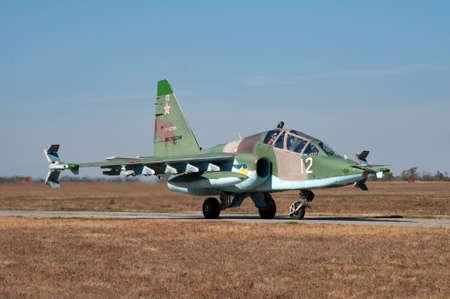 Training and combat aircraft Su-25UB, Kushchevskaya, Russia, October 3, 2015