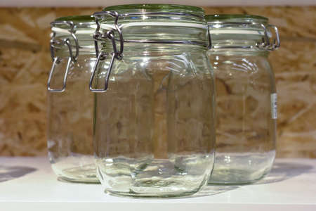 A glass jar with a lid, Rostov-on-Don, Russia, March 18, 2017. Photo taken at the mall