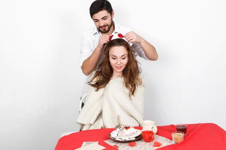 donna innamorata: Sorpresa mangiare Breakfest a San Valentino
