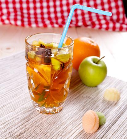 grog: Tasty warming grog with rum, apple and orange