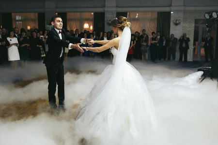 butonniere: Newlyweds whirl in the smoke