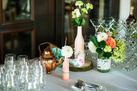 The wedding buffet table Stock Photo