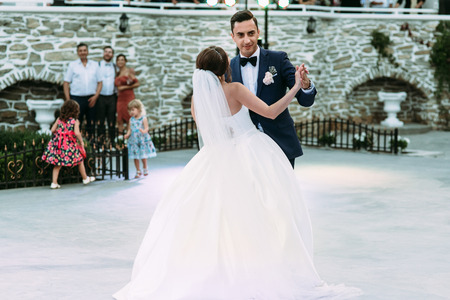 moment: Simple first dance of the married couple