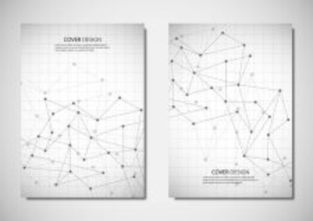 Abstract vector polygonal geometric shape with connection lines and dots background