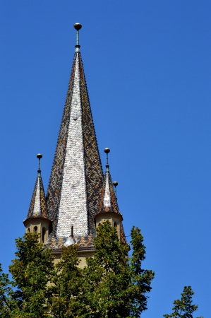 evangelical: Evangelical Cathedral Bell Tower from Sibiu, Transylvania