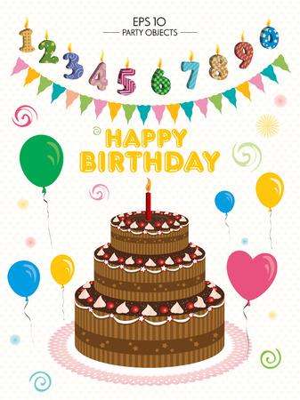 birthday party: Birthday Party Illustration