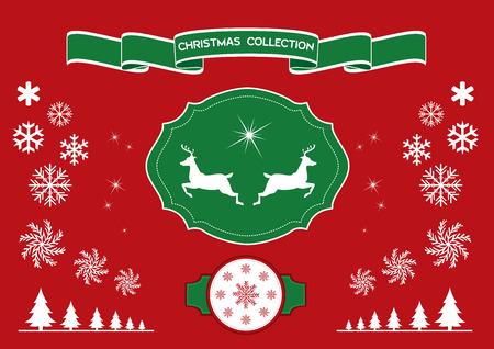 lapland: Christmas design elements