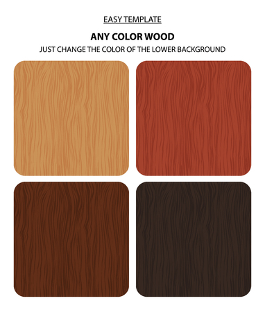 natural color: Vector wood texture template set. Natural wooden background. Four color variations and potential change colors