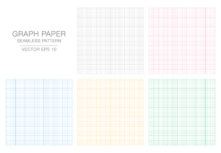 Colored Graph Paper. Seamless pattern. Vector Grid Template. Real size