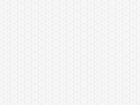 Detailed Isometric Grid. High Quality Triangle Graph Paper. Seamless Pattern. Vector Grid Template for Your Design. Real Size Ilustração