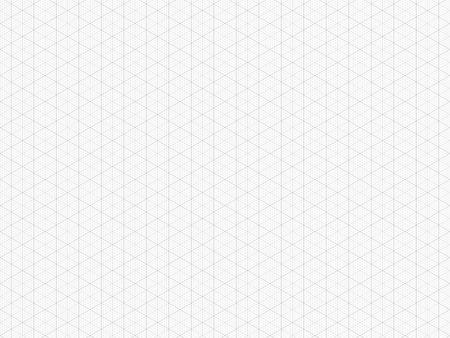 Grille isométrique détaillée. Papier quadrillé triangulaire de haute qualité. Modèle sans couture. Modèle de grille de vecteur pour votre conception. Taille réelle