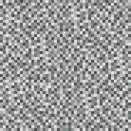 Abstract Gray Square Pixel Mosaic Background. Seamless Pattern. Noise Texture. Geometric Style. Vector Illustration Ilustração