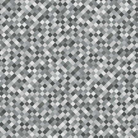 Gray Rhombus Mosaic Background. Seamless Pattern. Abstract Noise Texture. Geometric Style. Vector Illustration