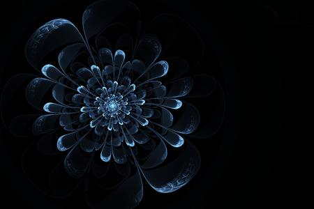snowflacke: Digital art, abstract fractal. I see here mystery ice flower.