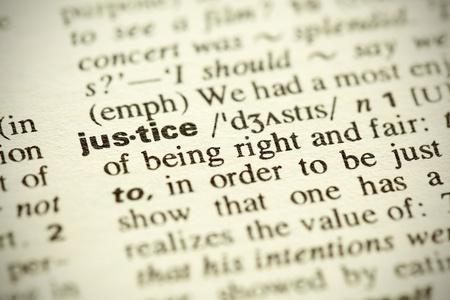 gerechtigheid: Woordenboekdefinitie van het woord