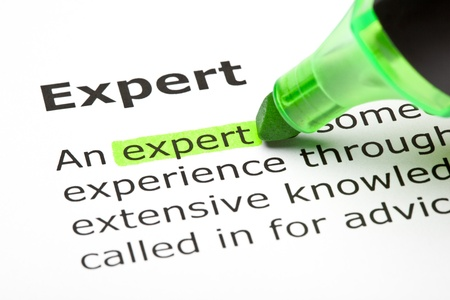 underline: The word Expert highlighted in green