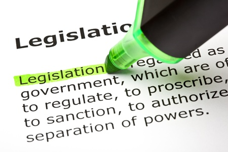 legislation: The word Legislation highlighted in green,  under the heading Legislation