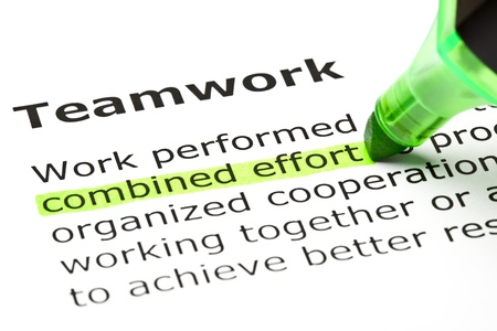 combined effort: Combined effort highlighted in green, under the heading Teamwork